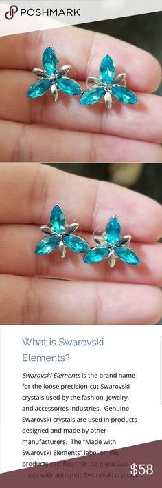 Swarovski Snowflake Austrian crystal earrings Brand new silver Swarovski element Crystals snowflake Austrian crystal earrings. please see pic 3 & 4 for more details on what Swarovski elements are... Swarovski Jewelry Earrings