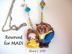 Beauty and the beast necklace by elvira-creations.deviantart.com on @deviantART