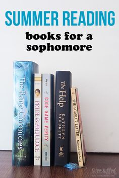 Reading over the summer helps prevent summer learning loss. A list of age-appropriate books for a teen who will be a sophomore in high school in the fall. #overstuffedlife
