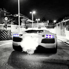 'Flaming Aventador' Hit the link for more smoking 'hot' images and one sensational car giveaway... www.ebay.com/motors/garage?_trksid=p2050890.m1616&_trkparms=%26clkid%3D6426505341691924708?roken2=ta.p3hwzkq71.bsports-cars-we-love #supercars #spon