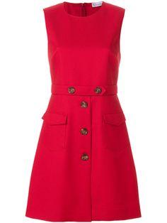 Shop Red Valentino button embellished shift dress