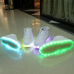 zapatillas botitas con led!! 7 juegos de luces excelentes