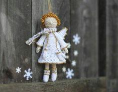 Dinha Ponto Cruz: Anjos natalinos em crochê