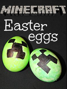 These Minecraft Creeper Easter Eggs are just awesome. I have to make them!