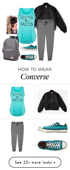 """""""Do it for the ta ahah ah ahah ah cos!- plus size"""" by gchamama on Polyvore featuring Everlane, Zella, Converse and plus size clothing"""