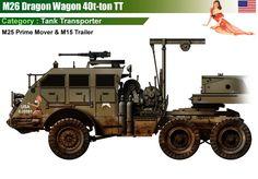 M26 Dragon Wagon Tank Tranporter (Pacific M25 Prime Mover + M15 Trailer)