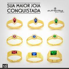 O anel de formatura é símbolo de uma conquista, de um mérito. Algo batalhado por anos e anos merece um mimo para finalizar com chave de ouro! :D Aqui na Authentika temos vários modelos, venha conferir!