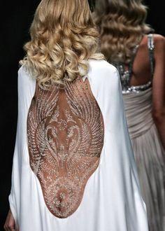 windowed embossed dress // #texture #fashion #runway #fashionweek