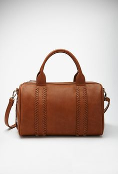 Stitched Faux Leather Satchel | FOREVER21 - 1049258022