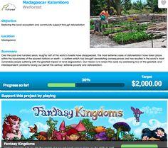 Raising money for Weforest through Fantasy Kingdoms