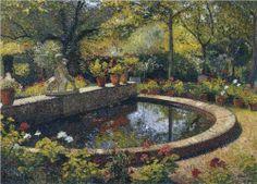 Fountain in My Garden - Henri Martin
