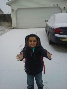 Dany disfrutando de la nieve