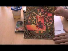 Black Gesso with oil crayouns - Daniela Rogall - https://www.youtube.com/watch?v=JVqt3ZbqD1Q
