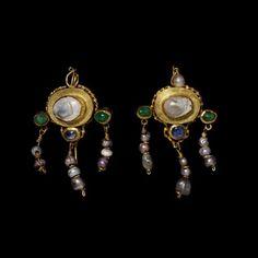 Earrings ca. 100-400 via The Victoria & Albert Museum