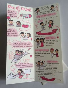 Cartoon wedding invite - this one actually looks like you drew it! So cute!