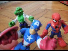 Capitão América Captain america Falcão Falcon Hulk Playskool Marvel Imag...