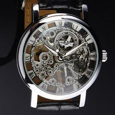 Mechanical Watch Men's wristwatches Steampunk by pyramidboutique, $25.00