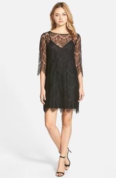 Free shipping and returns on cupcakes and cashmere 'Marin' Lace Overlay Shift Dress at Nordstrom.com. Scalloped eyelash lace trims the drapey overlay of a head-turning dress that puts a boho spin on the classic, cocktail-hour shift. $77.05 - $115.00
