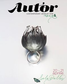 """AUTOR 9 - Cornelia Brustureanu presents us the collection """"Frozen Garden"""", which has its concept based on the image of a garden waiting for a sun beam to help it reborn after the long winter. For instance, the ring below is waiting for spring to take off the leather jacket which brought him shelter during wintertime."""