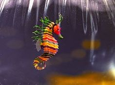 crayon sea horse from Life Aquatic