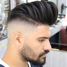 New Hairstyles Men Pompadour Fade Haircut 16 Ideas Pompadour Fade Haircut, Pompadour Style, Modern Pompadour, Pompadour Men, Taper Fade Haircut, Smart Hairstyles, Mens Hairstyles Fade, Hot Haircuts, Cool Hairstyles For Men