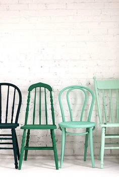 chairs dining room, Teal, House, Hand Painted Teal Wooden dining chairs