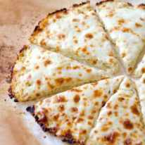 Cheese pizza with cauliflower pizza crust!
