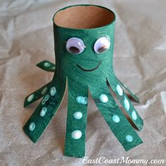 Toilet roll Octopus