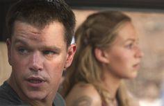 Still of Matt Damon and Franka Potente in The Bourne Supremacy