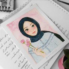 Things to try Girl Cartoon, Cartoon Art, Arte Indie, Hijab Drawing, Islamic Cartoon, Anime Muslim, Hijab Cartoon, Islamic Girl, Girly Drawings