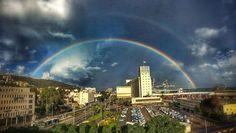 rainbow in haifa          ISRAEL