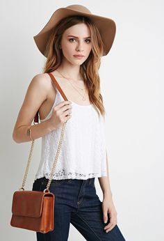 Structured Flap-Top Crossbody   Forever 21 - 1000184187