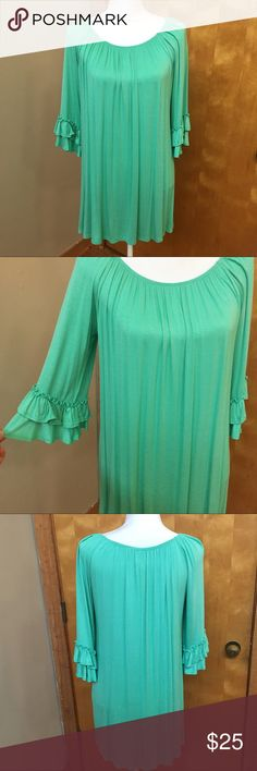 """NWT Mint Trumpet Sleeve Tunic Top Size medium. """"High Expectations Mint Top"""". Bought from a local boutique called The Paisley Rooster. Brand new w/ tags. Pretty and flowy 😃 MOA USA Tops Tunics"""