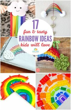 It's a color explosion! We've found 17 rainbow ideas (crafts, activities and foods) that your kids are going to LOVE this spring.