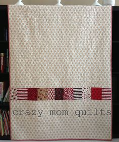This is the backside of a quilt but I think that it would look great as the frontT