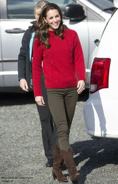 The Duchess of Cambridge goes casual