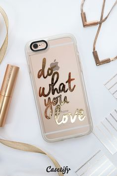 iPhone! Do what you love! Click through to shop our #staygold collection >>> www.casetify.com/... #phonecase | Casetify Cool iPhone stuff