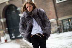 Street Style from Copenhagen Fashion Week Fall 2014 #streetstyle