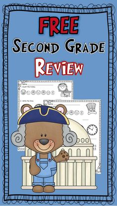 Free math for 2nd grade---counting money, telling time, 3-digit addition & subtraction