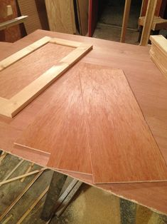 The Making of Shaker Cabinet Doors is part of Shaker cabinet DIY - Check out this simple tutorial on how to make simple Shaker cabinet doors with minimal tools that look great on so many types of projects! Making Cabinet Doors, Shaker Style Cabinet Doors, Shaker Doors, Shaker Cabinets, Kitchen Cabinet Doors, Built In Cabinets, Diy Cabinets, Building Cabinet Doors, Diy Furniture Plans