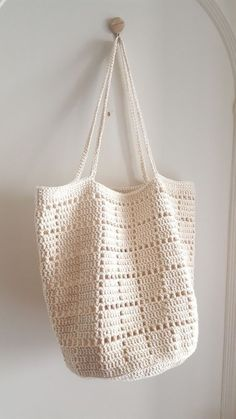 Crochet Market Bag, Crochet Tote, Crochet Handbags, Crochet Purses, Diy Crochet, Crochet Stitches, Bag Patterns, Pattern Ideas, Crochet Edgings