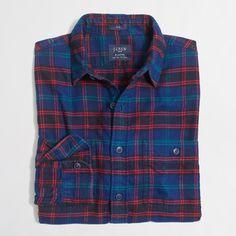 Slim Plaid Flannel Shirt : Men's Shirts | J.Crew Factory