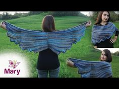 Stola Angel Wing   Scialle ali di angelo all'uncinetto - YouTube Angelo, Lana, Make It Yourself, Youtube, Crochet Shawl