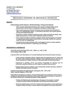 mechanical engineer resume sample we provide as reference to make correct and good quality resume