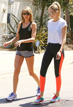 #TaylorSwift - hiking with Gigi Hadid on 5/10/15 (Taylor has the BEST legs ever!!)