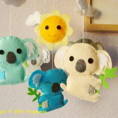 Baby Nursery Mobile - Australian Koala theme