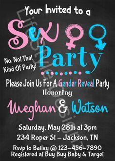 Gender Reveal Invitation Sex Party Gender by LifestyleDesignz