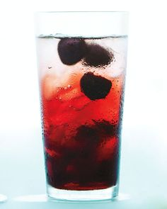Cool off with a Black Cherry Spritzer: black cherries + agave + seltzer, Wholeliving.com