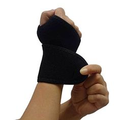 Black Soft Cozy Wrist Thumb Brace Wrap Support Sports Weight Lifting Wraps Adjustable Palm Wrist Thumb Hand Joint Brace Support Protector Sports Safety Bandage Gym Weight Lifting Straps Elastic Stretchy Wraps Sweatband Wristband Protective Gear Black *** You can get more details by clicking on the image.Note:It is affiliate link to Amazon.