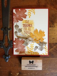 Stampin' Up! For all Things , fall cards, occasions catalogue 2014-15, burlap,  www.lakesideinklings.stampinup.net